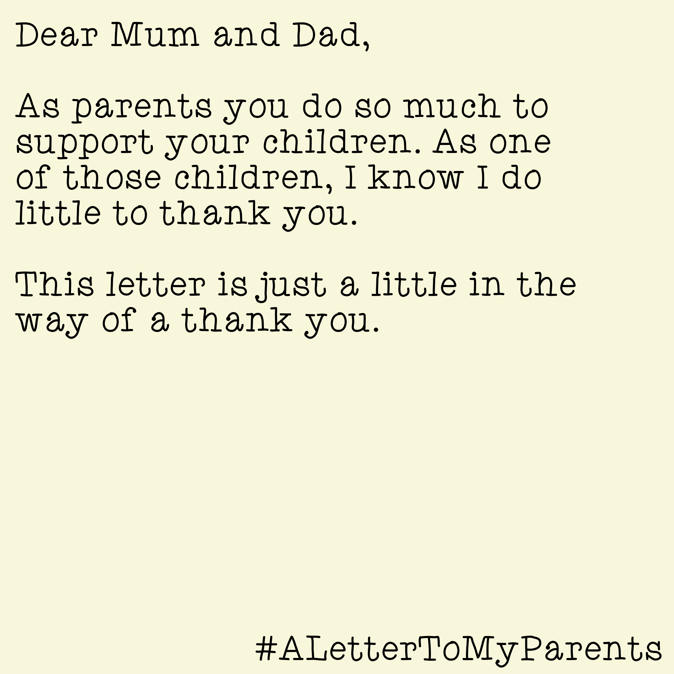letter to my parents Kordurorddiner